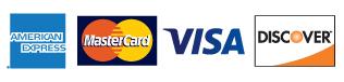 American Express - MasterCard - Visa - Discover